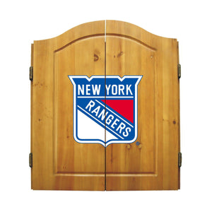 Imperial New York Rangers Dartboard Cabinet Set-epicrecrooms.com