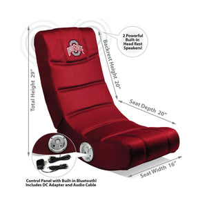 Imperial Ohio State Video Chair with Bluetooth-epicrecrooms.com