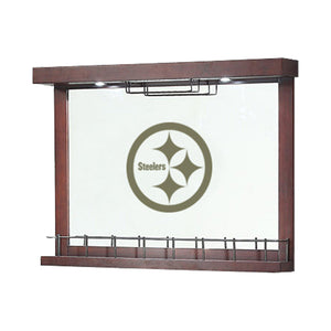 Imperial Pittsburgh Steelers Mirrored Wall Bar-epicrecrooms.com