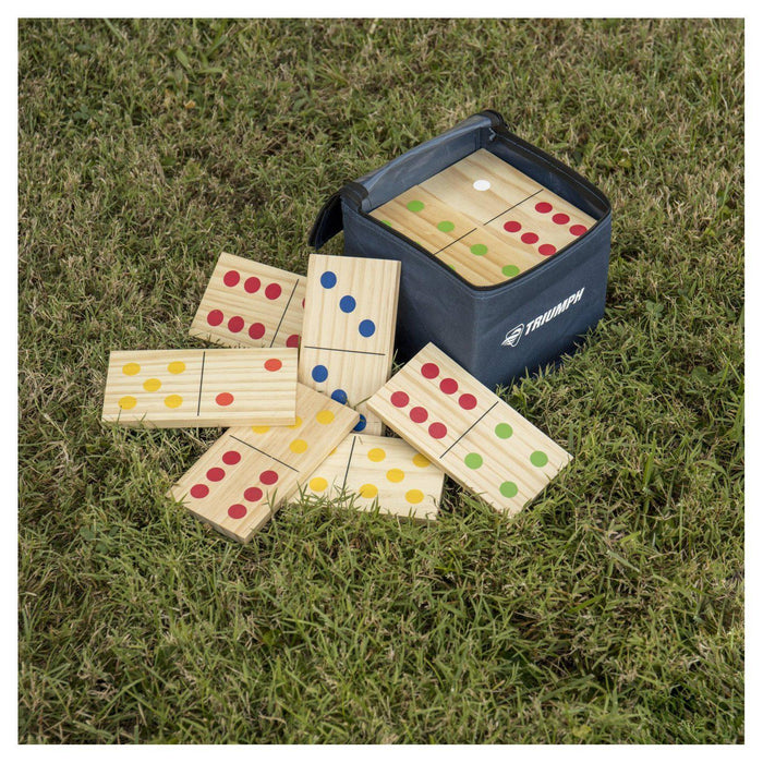 Triumph Wooden Lawn Domino Set