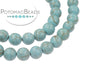 Blue Magnesite Matted Turquoise Rounds 6mm