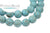 Blue Magnesite Matted Turquoise Rounds 8mm (40cm Strand)