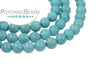Blue Magnesite Matted Turquoise Rounds 4mm