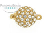 ClaspGarten Clasp Push Crystal Gold Plated Ball 1-loop (23kt Gold Plated)