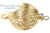 ClaspGarten Clasp Brush Round Gold Plated 1-loop (23kt Gold Plated)