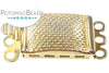 ClaspGarten Clasp Pitted Box Gold Plated 3-loop (23kt Gold Plated)
