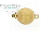 ClaspGarten Clasp Brushed Gold Plated Round 12.5mm (23kt Gold Plated)