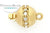 ClaspGarten Clasp Center Crystal GP Brushed Round 10mm (23kt Gold Plated)