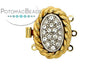 ClaspGarten Clasp Gold Plated Coiled Crystal Nest 3-loop (23kt Gold Plated)