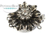 ClaspGarten Clasp Old Palladium Plated Crystal Sunflower 3-loop (Old Palladium Plated)