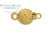 ClaspGarten Clasp GP Round Swirl 7mm (23kt Gold Plated)
