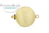 ClaspGarten Clasp Gold Plated Brushed Disc 17mm (23kt Gold Plated)