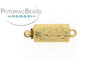 ClaspGarten Clasp GP Driftwood Barrel 12x6mm (23kt Gold Plated)