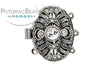 ClaspGarten Clasp Old Palladium Plated Magic Door Oval with Crystals 22x16mm (Old Palladium Plated)