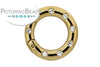ClaspGarten Clasp GP Twist Ring with Crystals 25mm (23kt Gold Plated)