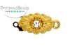 ClaspGarten Clasp Blooming GP Flower with Crystal 1-loop (23kt Gold Plated)