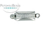 ClaspGarten Clasp SP Braided Rectangle 5x9.5mm 1-loop (Rhodium Plated)