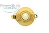ClaspGarten Clasp GP Disc Pearl 11mm (23kt Gold Plated)