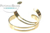 Gold Plated Centerline Cuff (Gold Plated)