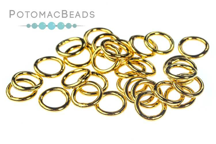 Gold Plated Jump Ring 6 mm Closed (Pack of 20)