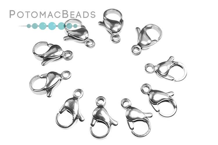 Lobster Clasps 12mm - Stainless Steel (Pack of 10)