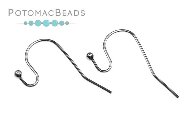 Earwire with Bead - Stainless Steel (Pack of 4)