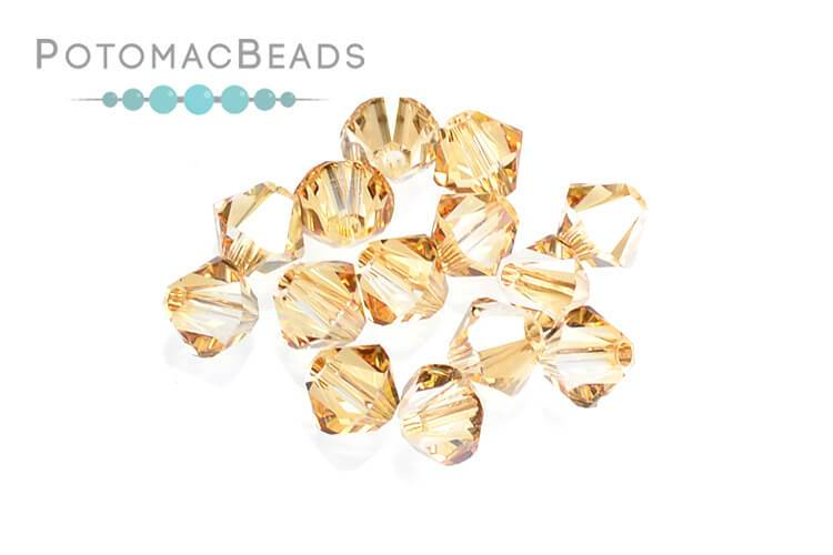 8183dbe87 Swarovski Bicone - Crystal Golden Shadow 4mm (24 pack)