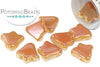 2-Hole Bell - White Full Apricot Medium