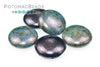 2-Hole 18mm Cabochon - Blue Luster