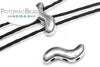 SnakeTrio Antique Silver 3-hole S Shape Bead