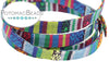 Cotton Flat Ethnic Cord - Blue/Green Multi 10mm