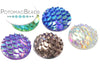 Resin Fish Scale Cab 12mm - Assorted Colors
