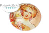 Glass Cabochon - Goddess Persephone 25mm