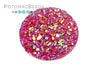 Resin Cabochon - Druzy Fuchsia 20mm