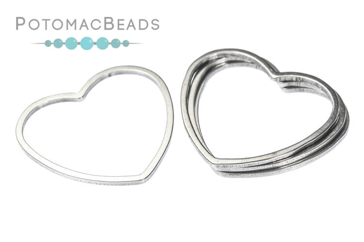 Perfect Form Heart - Stainless Steel 18mm