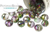 Potomac Crystal Rondelles - Magic Orchid 3x4mm