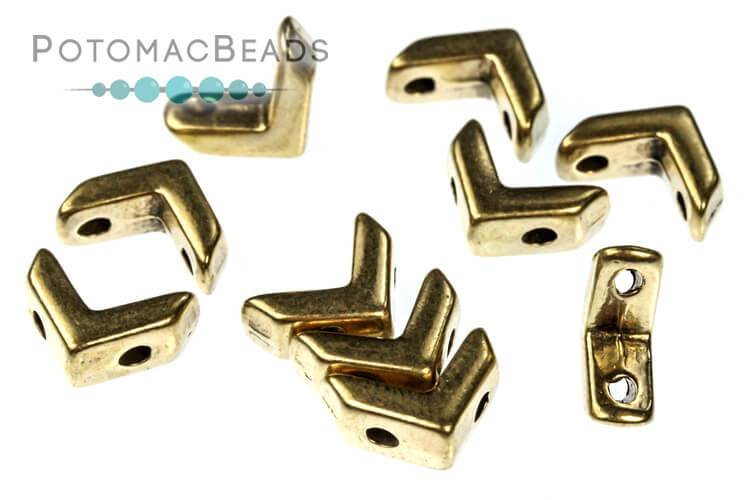 Metal EVA Bead - Antique Brass
