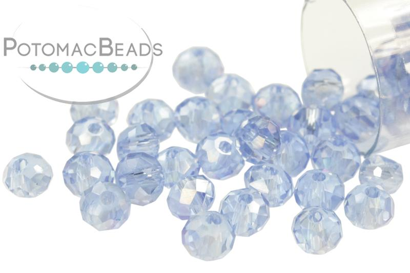 Potomac Crystal Rondelles - Light Sapphire AB 3x4mm