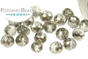 Potomac Crystal Rondelles - Metallic Half Pewter 3x4mm