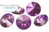 Potomac Crystal Rivoli - Amethyst Metallic Ice 10mm (pack of 5)
