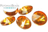 Potomac Crystal Rivoli - Topaz Metallic Ice 10mm (pack of 5)