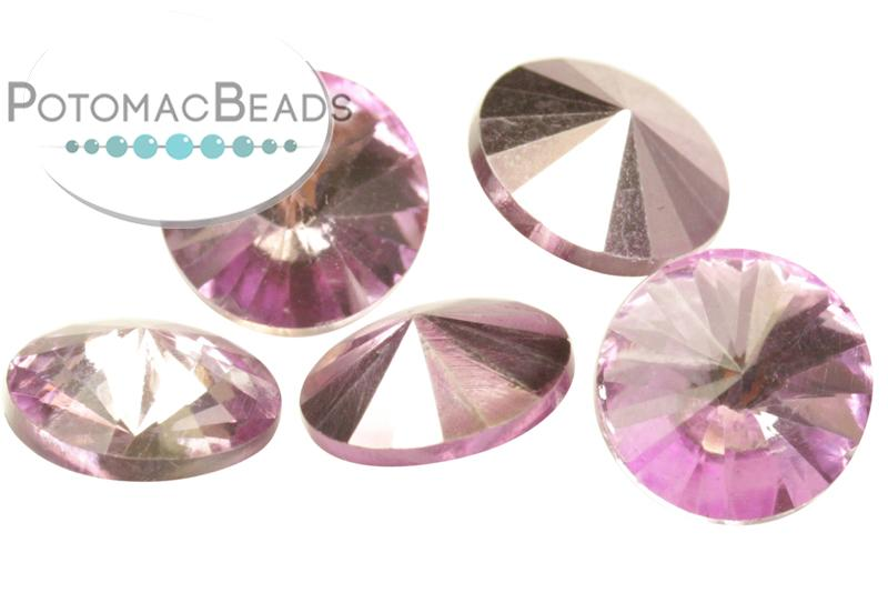 Potomac Crystal Rivoli - Lilac Metallic Ice 10mm (pack of 5)