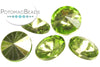 Potomac Crystal Rivoli - Olive Metallic Ice 10mm (pack of 5)