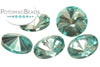 Potomac Crystal Rivoli - Aqua Metallic Ice 10mm (pack of 5)