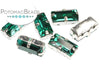 Potomac Crystal Baguettes - Emerald 5x10mm