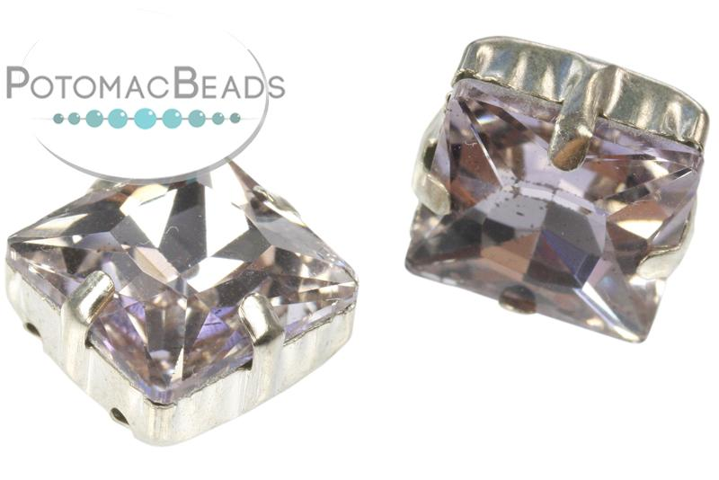 Potomac Crystal Square Setting - Violet 12mm