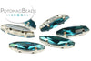 Potomac Crystal Slim Navettes - Blue Zircon 4x15mm