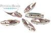 Potomac Crystal Slim Navettes - Light Rose 4x15mm