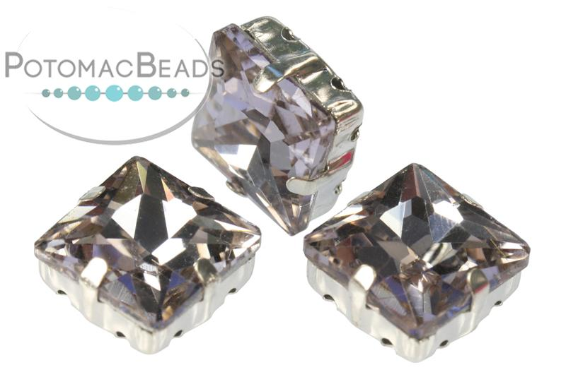 Potomac Crystal Square Setting - Crystal 12mm