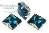 Potomac Crystal Square Setting - Blue Zircon 12mm